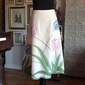 Anthropologie floral skirt